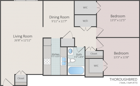 2 Bed / 1 Bath / 1,000 ft² / Availability: Please Call / Deposit: $300 / Rent: $725