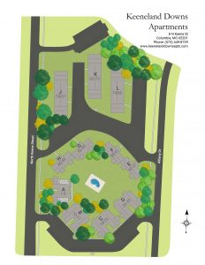 Keeneland Downs Apartments Site Map
